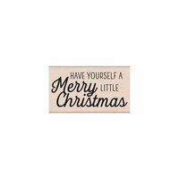 Hero Arts- Season of Wonder Collection - Woodblock - Wood Mounted Stamps - Merry Little Christmas