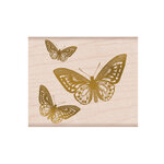 Hero Arts - From The Vault - Woodblock - Wood Mounted Stamps - Butterfly