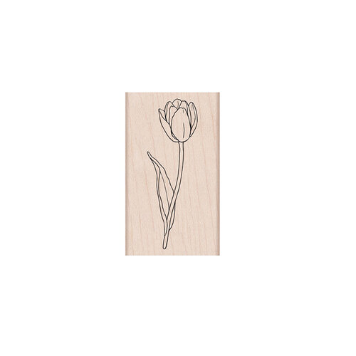 Hero Arts - Woodblock - Wood Mounted Stamps - Single Tulip