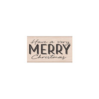 Hero Arts Woodblock - Wood Mounted Stamps - Have a Very Merry Christmas