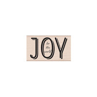 Hero Arts Woodblock - Wood Mounted Stamps - Joy to the World Mixed Font