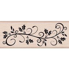 Hero Arts - Woodblock - Christmas - Wood Mounted Stamps - Holly Flourish Border