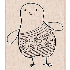 Hero Arts - Woodblock - Wood Mounted Stamps - Flower Chick, CLEARANCE