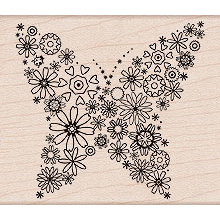Hero Arts - Woodblock - Wood Mounted Stamps - Blooming Butterfly, CLEARANCE