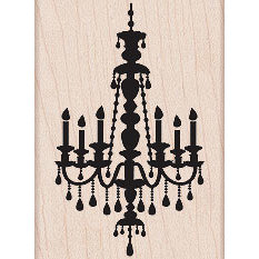 Hero Arts - Woodblock - Wood Mounted Stamps - Small Chandelier