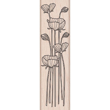 Hero Arts - Woodblock - Wood Mounted Stamps - Long Stem Flowers
