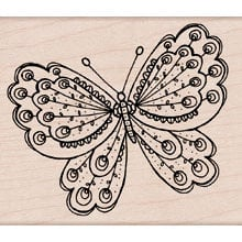 Hero Arts - Woodblock - Wood Mounted Stamps - Artists Butterfly, BRAND NEW