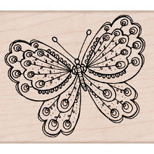 Hero Arts - Woodblock - Wood Mounted Stamps - Artists Butterfly