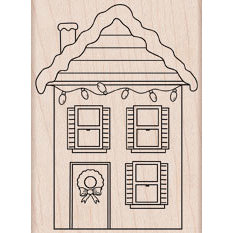 Hero Arts - Woodblock - Christmas - Wood Mounted Stamps - Decorated House