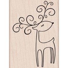 Hero Arts - Woodblock - Christmas - Wood Mounted Stamps - Winking Reindeer