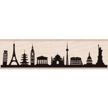 Hero Arts - Woodblock - Wood Mounted Stamps - International Skyline