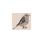 Hero Arts - Woodblock - Wood Mounted Stamps - Newsprint Bird