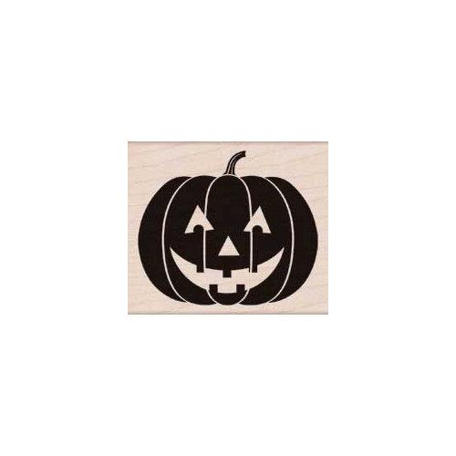 Hero Arts - Woodblock - Halloween - Wood Mounted Stamps - Scary Pumpkin