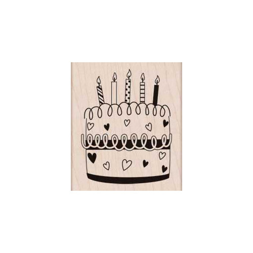 Hero Arts - Woodblock - Wood Mounted Stamps - Heart Cake