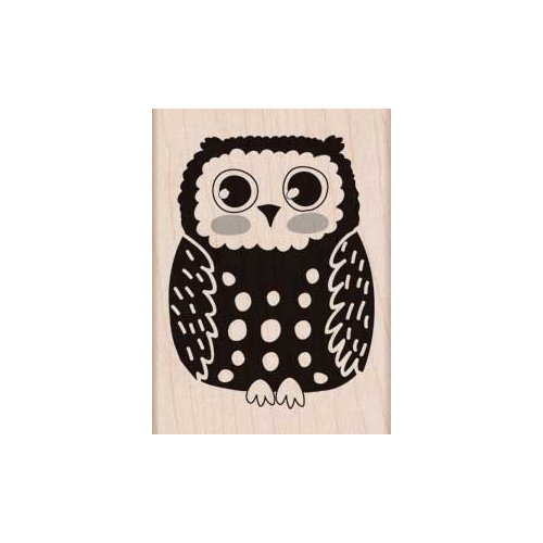 Hero Arts - Woodblock - Wood Mounted Stamps - Circles Owl