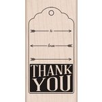 Hero Arts - Wood Block - Wood Mounted Stamp - Thank You With Arrows