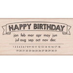 Hero Arts - Wood Block - Wood Mounted Stamp - Happy Birthday Calendar