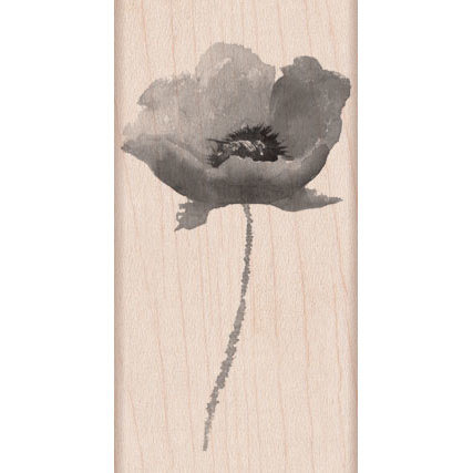 Hero Arts - Wood Block - Wood Mounted Stamp - Poppy