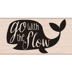 Hero Arts - Wood Block - Wood Mounted Stamp - Go With the Flow