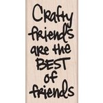 Hero Arts - Woodblock - Wood Mounted Stamps - Crafty Friends
