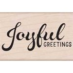 Hero Arts - Woodblock - Christmas - Wood Mounted Stamps - Joyful Greetings