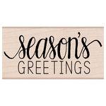 Hero Arts - Woodblock - Christmas - Wood Mounted Stamps - Season's Greetings