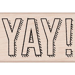 Hero Arts - Birthday Collection - Woodblock - Wood Mounted Stamps - YAY