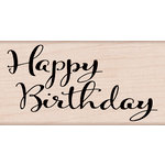 Hero Arts - Birthday Collection - Woodblock - Wood Mounted Stamps - Happy Birthday Script