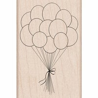 Hero Arts - Birthday Collection - Woodblock - Wood Mounted Stamps - Birthday Balloons