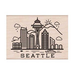 Hero Arts - Destination Collection - Woodblock - Wood Mounted Stamps - Seattle