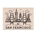 Hero Arts - Destination Collection - Woodblock - Wood Mounted Stamps - San Francisco