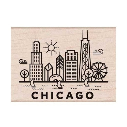 Hero Arts - Destination Collection - Woodblock - Wood Mounted Stamps - Chicago