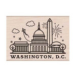 Hero Arts - Destination Collection - Woodblock - Wood Mounted Stamps - Washington, DC