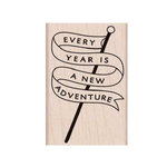Hero Arts - Adventure Collection - Woodblock - Wood Mounted Stamps - Adventure Banner