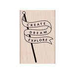 Hero Arts - Adventure Collection - Woodblock - Wood Mounted Stamps - Explore Banner