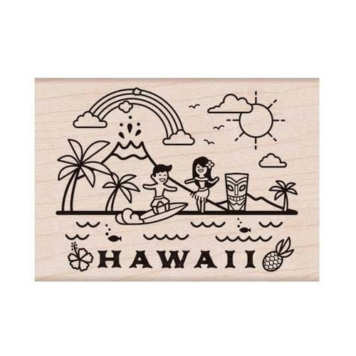 Hero Arts - Destination Collection - Woodblock - Wood Mounted Stamps - Hawaii