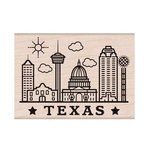 Hero Arts - Destination Collection - Woodblock - Wood Mounted Stamps - Texas