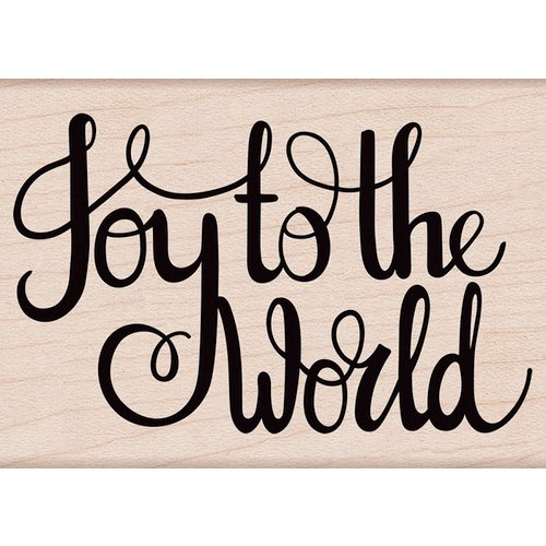 Hero Arts - Christmas - Woodblock - Wood Mounted Stamps - Joy To The World