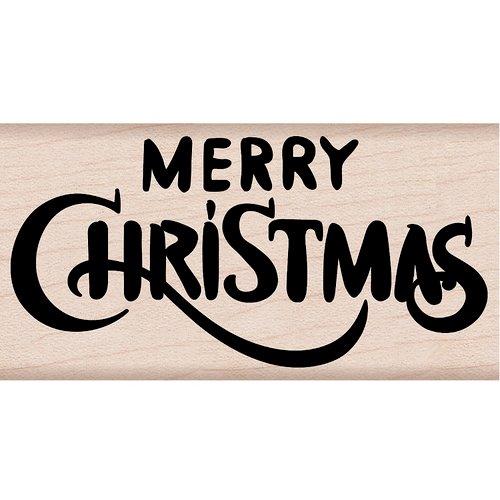 Hero Arts - Woodblock - Wood Mounted Stamps - Merry Christmas Calligraphy