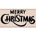 Hero Arts - Woodblock - Wood Mounted Stamps - Merry Christmas Calligraphy