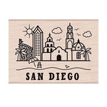 Hero Arts - Destination Collection - Destination -Wood Mounted Stamps - San Diego