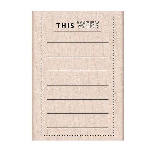Hero Arts - Woodblock - Wood Mounted Stamps - This Week Planner