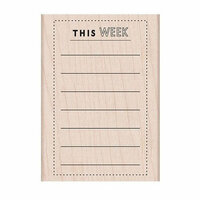 Hero Arts - Woodblock - Wood Mounted Stamps - This Week Planner