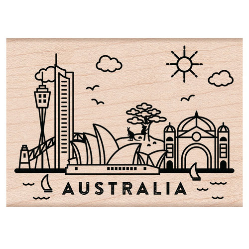 Hero Arts - Woodblock - Wood Mounted Stamps - Destination Australia