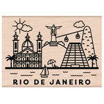 Hero Arts - Woodblock - Wood Mounted Stamps - Destination Rio De Janeiro