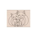 Hero Arts - Woodblock - Wood Mounted Stamps - Fox Family