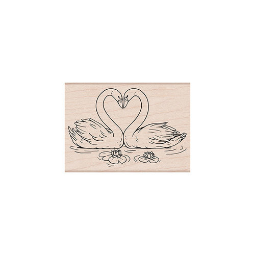 Hero Arts - Woodblock - Wood Mounted Stamps - Loving Swans