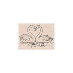 Hero Arts - Woodblock - Wood Mounted Stamps - Loving Swans