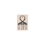 Hero Arts - Woodblock - Wood Mounted Stamps - Loving Giraffes
