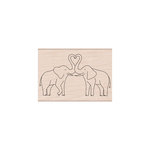 Hero Arts - Woodblock - Wood Mounted Stamps - Elephant Pair